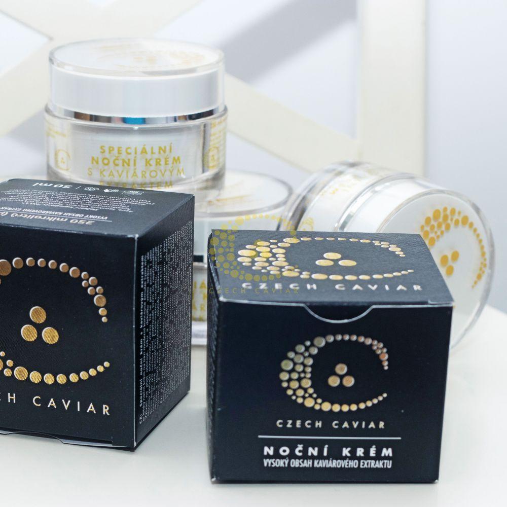 Speciální noční krém + Kaviárová chytrá nano maska
